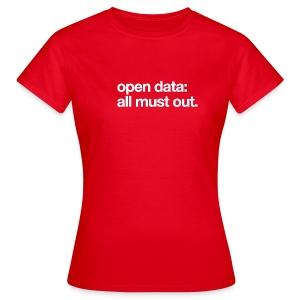 women's/ open data: all must out - Women's T-Shirt