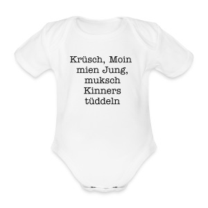 Ich bin ein Hamburger - Organic Short-sleeved Baby Bodysuit