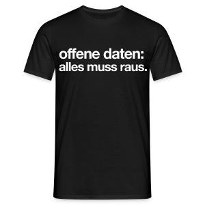 men's/ offene daten: alles muss raus - Men's T-Shirt