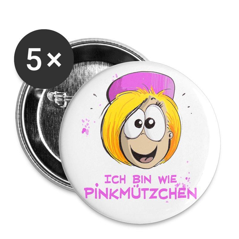 Pinkmützchen  -zum Anpieksen - Buttons mittel 32 mm
