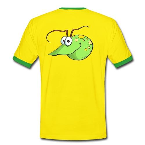 Wasserfloh - sportlich - für Jungs - von hinten - Männer Kontrast-T-Shirt