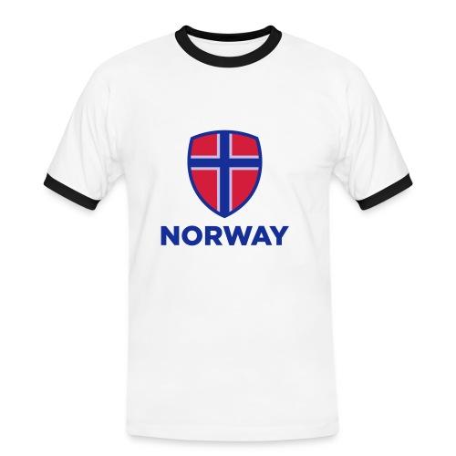 Norge t-skjorte - Kontrast-T-skjorte for menn