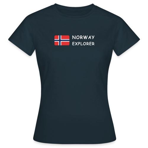 Women's T-Shirt NORWAY EXPLORER white-lettered - Women's T-Shirt