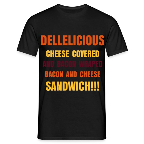 Dellelicious bacon and cheese sandwich Mænd - Herre-T-shirt