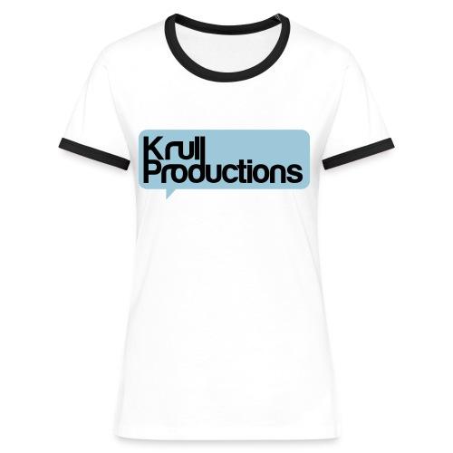 Krull T-shirt Dam (valbar färg) - Kontrast-T-shirt dam