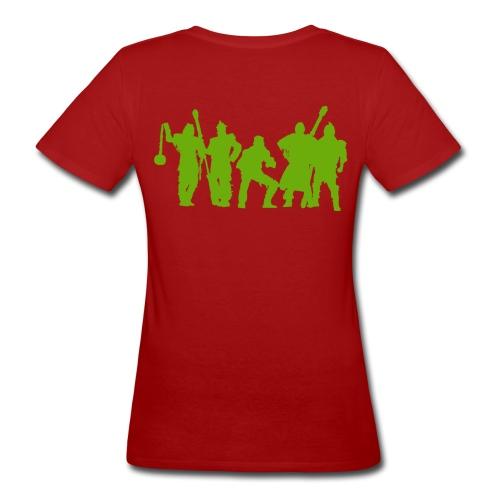Jugger Team grün - Frauen Bio-T-Shirt