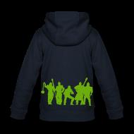 Pullover & Hoodies ~ Kinder Premium Kapuzenjacke ~ Jugger Team grün