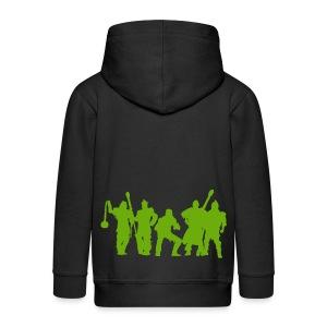 Jugger Team grün - Kinder Premium Kapuzenjacke