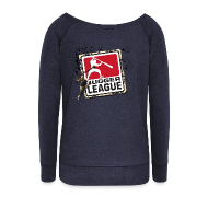 Pullover & Hoodies ~ Frauen Pullover mit U-Boot-Ausschnitt von Bella ~ Jugger LigaLogo Splash