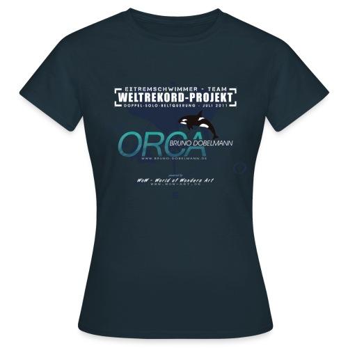 Frauen T-Shirt Weltrekord Projekt Doppel-Solo-Beltquerung - Frauen T-Shirt