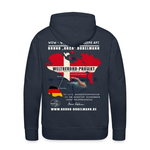 Weltrekord Projekt Doppel-Solo-Beltquerung - Männer Premium Hoodie