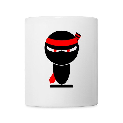 Tasse Ninja rouge - Mug blanc