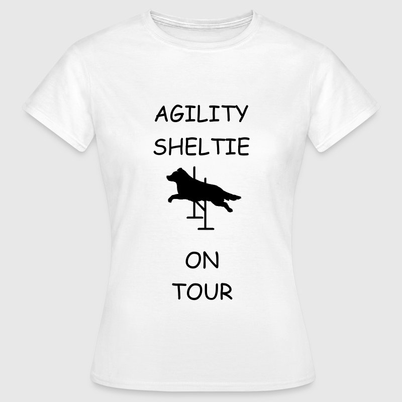 T-Shirt Agility Sheltie On Tour - Frauen T-Shirt