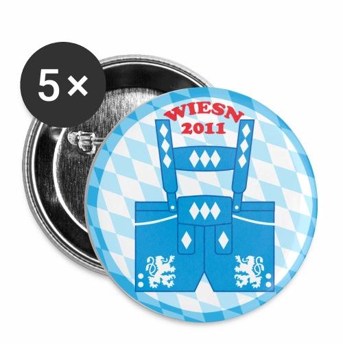 Lederhose Wiesn 2011 Button Anstecker - Buttons mittel 32 mm (5er Pack)