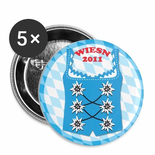 Dirndl Wiesn 2011 Edelweiss Button Anstecker - Buttons mittel 32 mm (5er Pack)