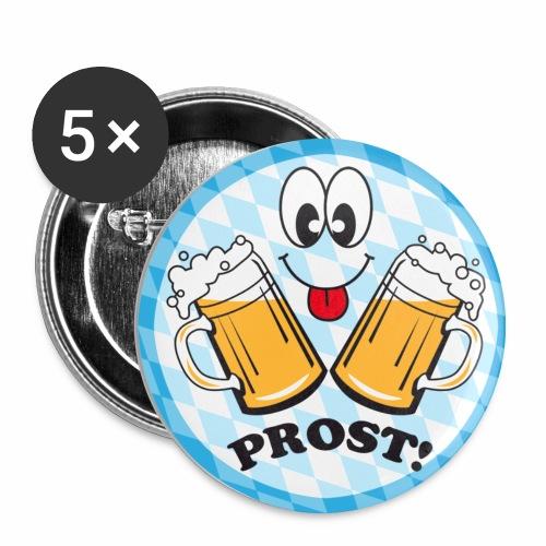 Prost! Witziger Anstecker Bier Smiley Button Anstecker - Buttons mittel 32 mm
