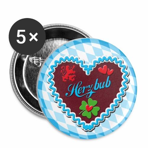 HERZBUB – Lebkuchenherz Glücksklee Button Anstecker Geschenkidee - Buttons mittel 32 mm