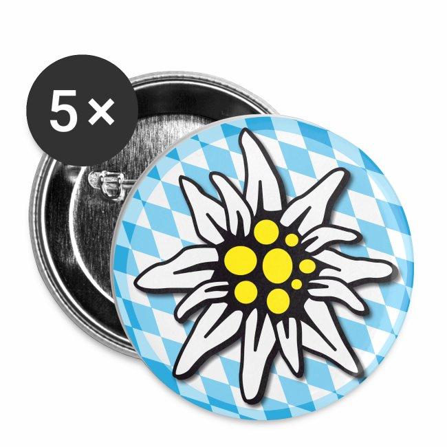 Edelweiss Anstecker Rautenmuster Button