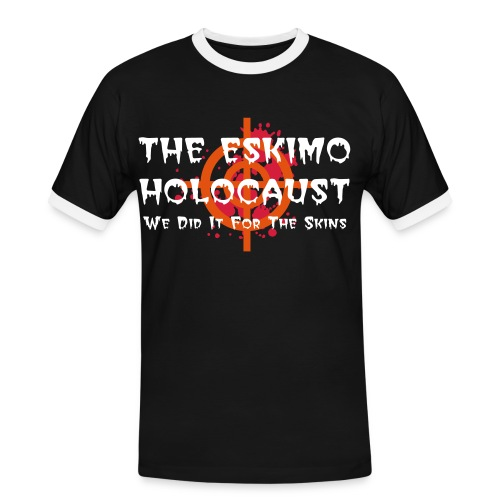 The Eskimo Holocaust Sniper Black - Men's Ringer Shirt