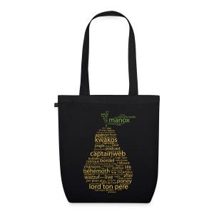 La poire dans l'sac (dark) - Sac en tissu biologique