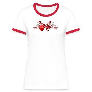 T shirt femme rock n' roll - T-shirt contrasté Femme