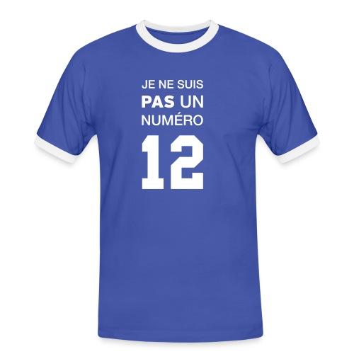 Je ne suis pas un numéro 12 - T-shirt contrasté Homme