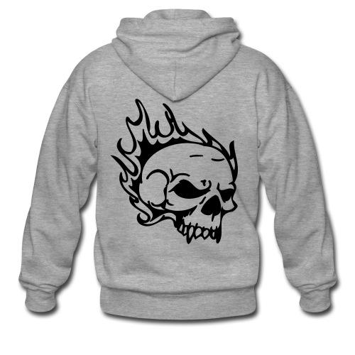 Burning skull Kapuzenjacke - Männer Premium Kapuzenjacke
