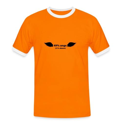 49%ange 51% demon - T-shirt contrasté Homme