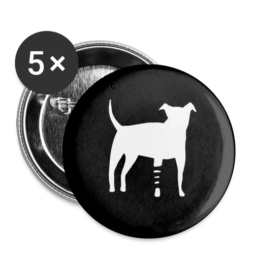 Canidius Button black - Buttons klein 25 mm (5er Pack)