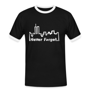 Never forget 9/11. - Männer Kontrast-T-Shirt