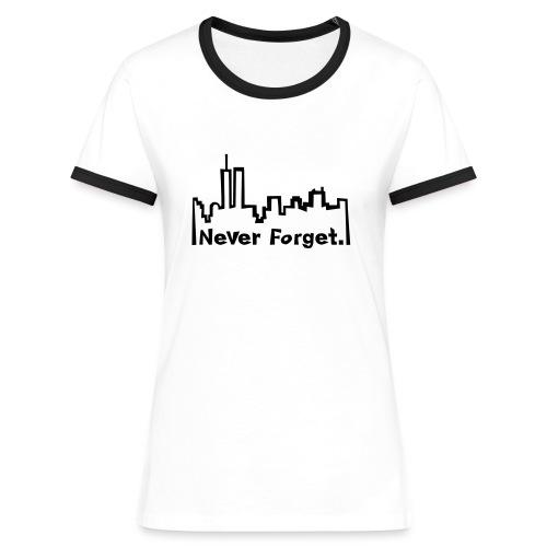 Never forget 9/11. - Frauen Kontrast-T-Shirt