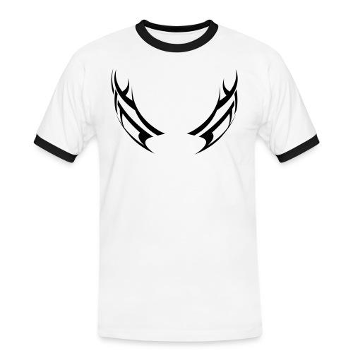tröja - Kontrast-T-shirt herr