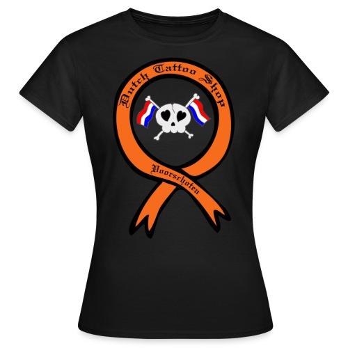 Dutch Tattoo Shop Voorschoten holland vlaggen skull T-shirt  - Vrouwen T-shirt