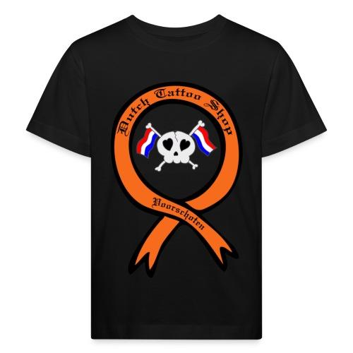 Dutch Tattoo Shop Voorschoten holland vlaggen skull T-shirt  - Kinderen Bio-T-shirt