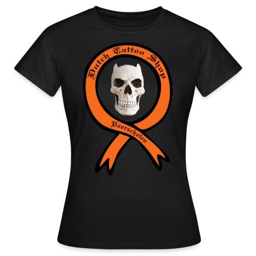 Dutch Tattoo Shop Voorschoten evil skull T-shirt  - Vrouwen T-shirt
