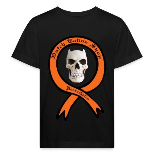 Dutch Tattoo Shop Voorschoten evil skull T-shirt  - Kinderen Bio-T-shirt
