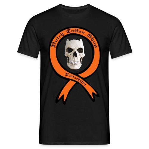 Dutch Tattoo Shop Voorschoten evil skull T-shirt  - Mannen T-shirt