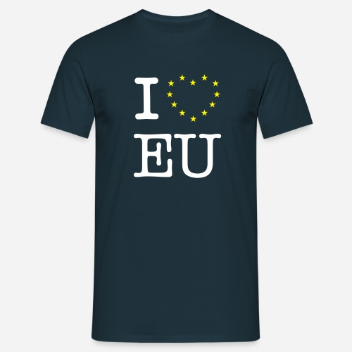 I Love EU - Herre-T-shirt