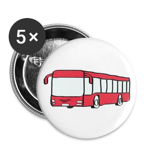 Bus Buttons - Buttons klein 25 mm (5er Pack)