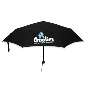 'Goalies Tend To Business' Umbrella - Umbrella (small)