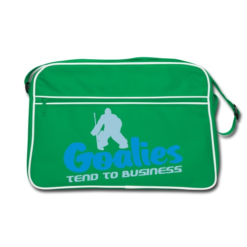 'Goalies Tend To Business' Retro Bag - Retro Bag