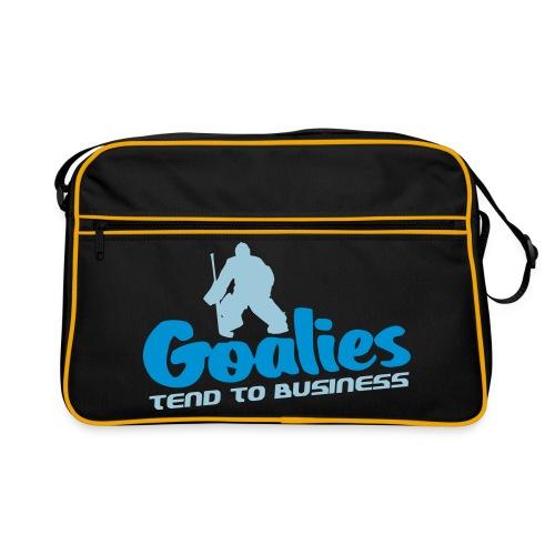 'Goalies Tend To Business' Retro Bag - Retro Bag