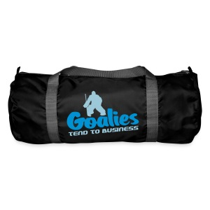 'Goalies Tend To Business' Duffel Bag - Duffel Bag