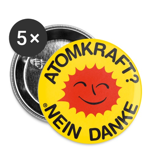 Atomkraft - Buttons groß 56 mm