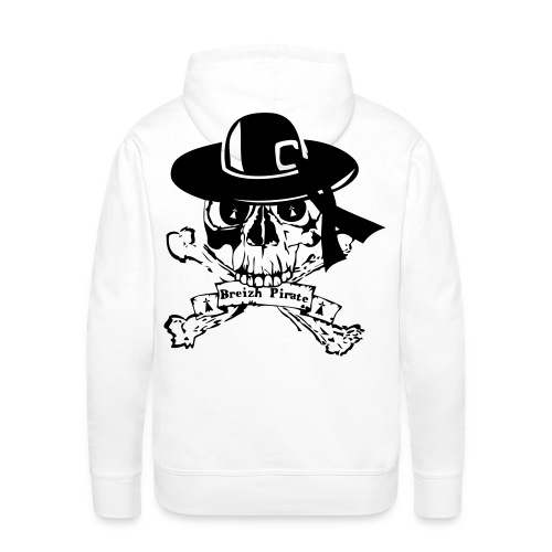 sweat breizh pirate oldfighter - Sweat-shirt à capuche Premium pour hommes