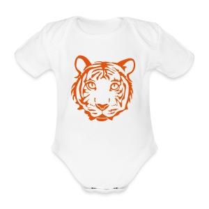 shirt tiger katze löwe puma lion cougar cat zoo wild tiershirt shirt tiermotiv tigermotiv party - Baby Bio-Kurzarm-Body