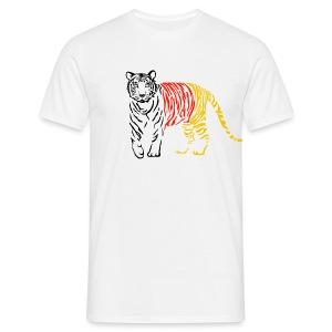 shirt tiger katze löwe puma lion cougar cat zoo wild tiershirt shirt tiermotiv tigermotiv party - Männer T-Shirt