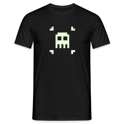 Indie Pixel Pusher Phosphorescent Black - T-shirt Homme