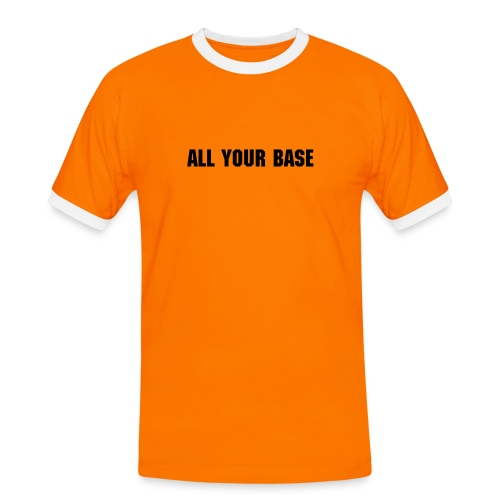 All your base - Männer Kontrast-T-Shirt