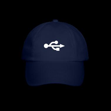 Blu/blu USB Logo - Nerd - Geek Cappelli e berretti